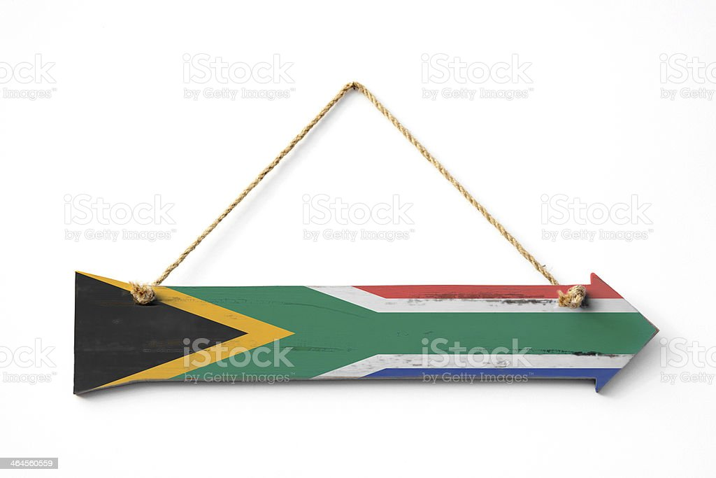 This way to South Africa royalty-free stock photo