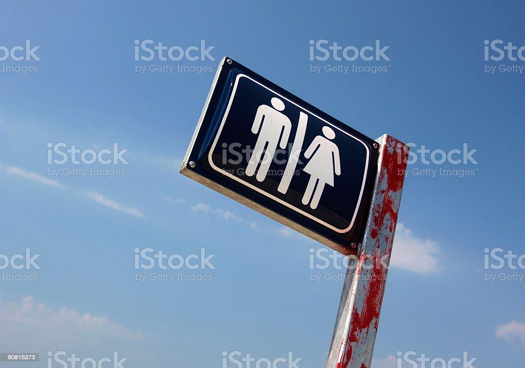 This way to toilette stock photo