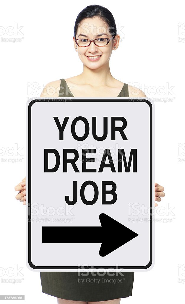 This Way To Your Dream Job royalty-free stock photo