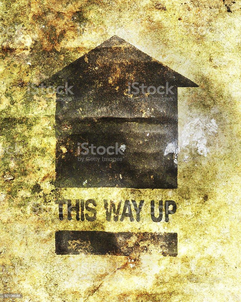 this way up stock photo