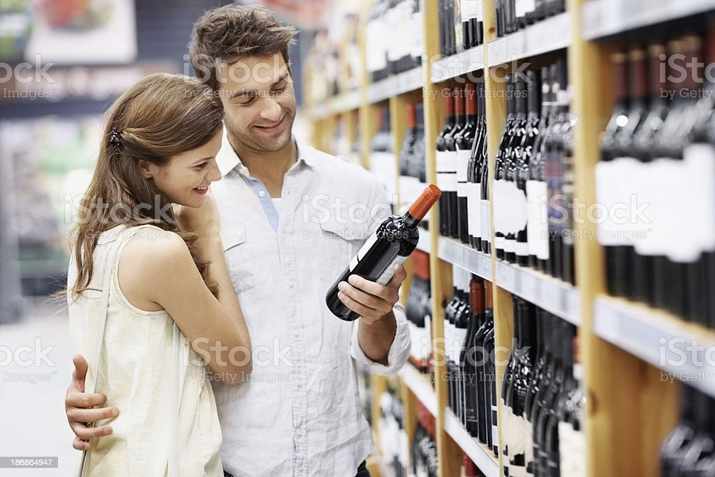 This will be great with dinner royalty-free stock photo