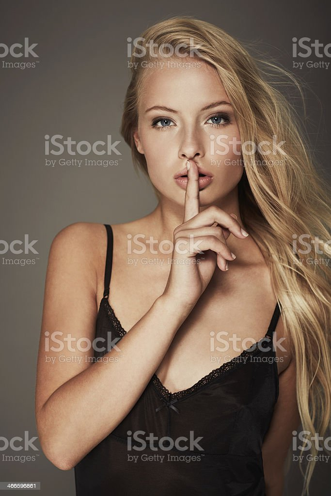 This will be our little secret stock photo