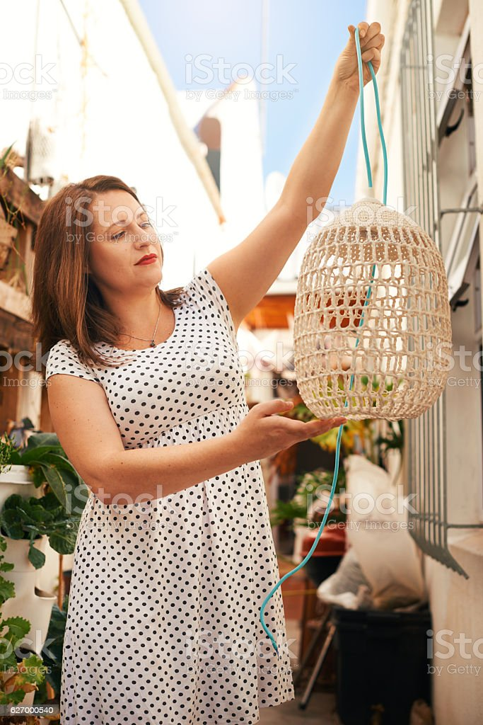 This will look great hanging in my house! stock photo