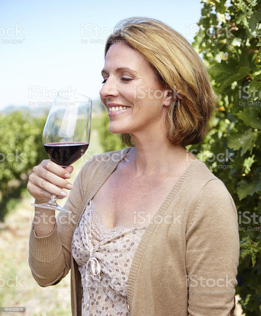 This wine is excellent! royalty-free stock photo