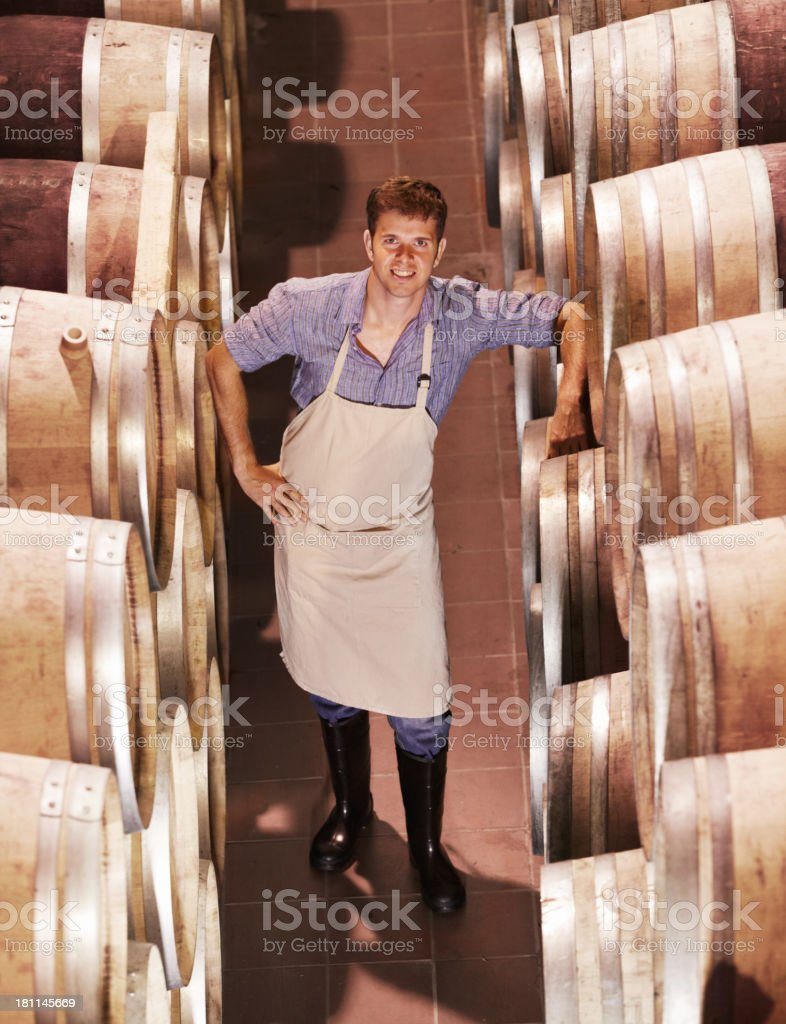 This wine will only get better royalty-free stock photo