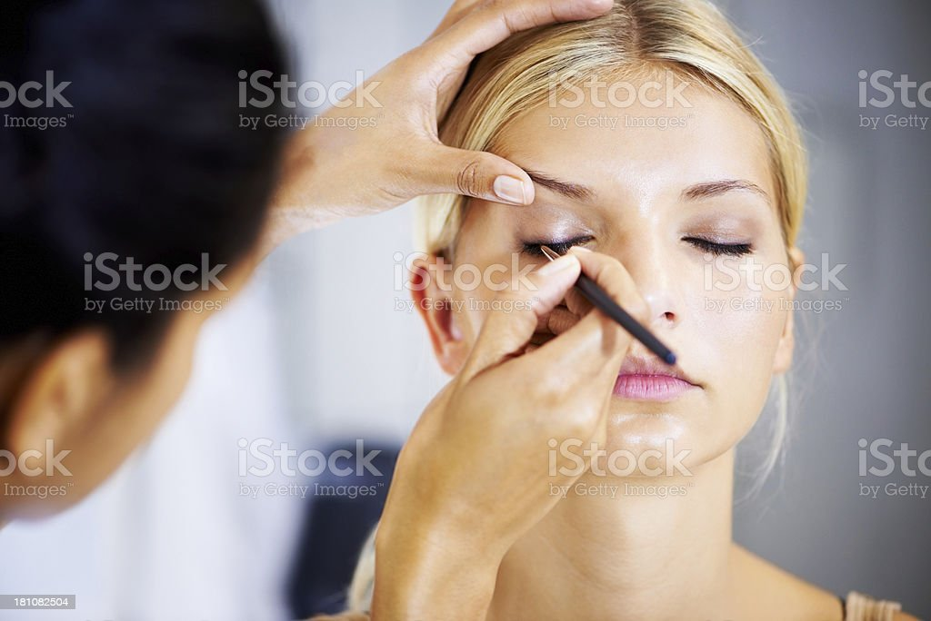 This work takes a steady hand royalty-free stock photo