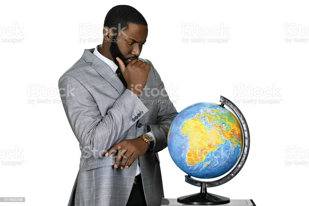 This world is all wrong. stock photo