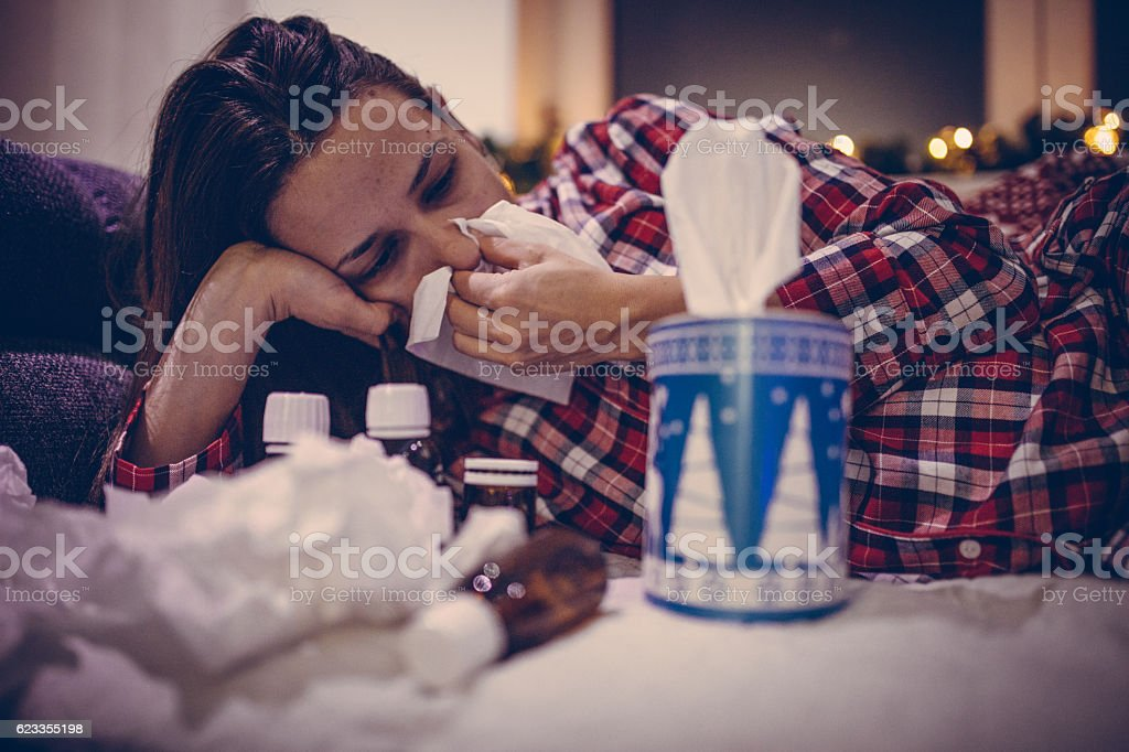 This year staying home for christmas stock photo