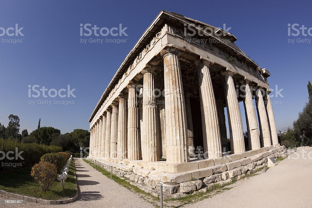 Thiseon Temple in The Ancient Agora, Athens royalty-free stock photo