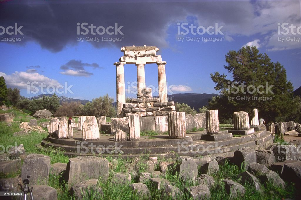 Tholos, Delphi, Greece, Oracle stock photo