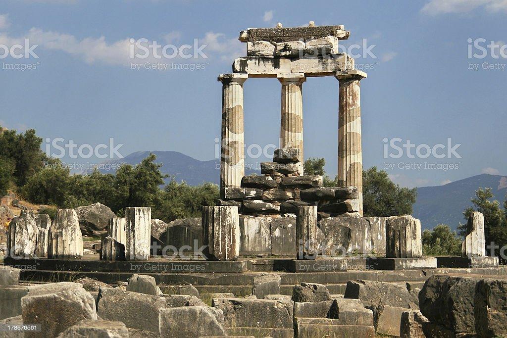 Tholos of Athena Pronaia royalty-free stock photo