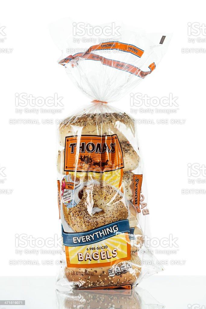 Thomas brand bagels royalty-free stock photo