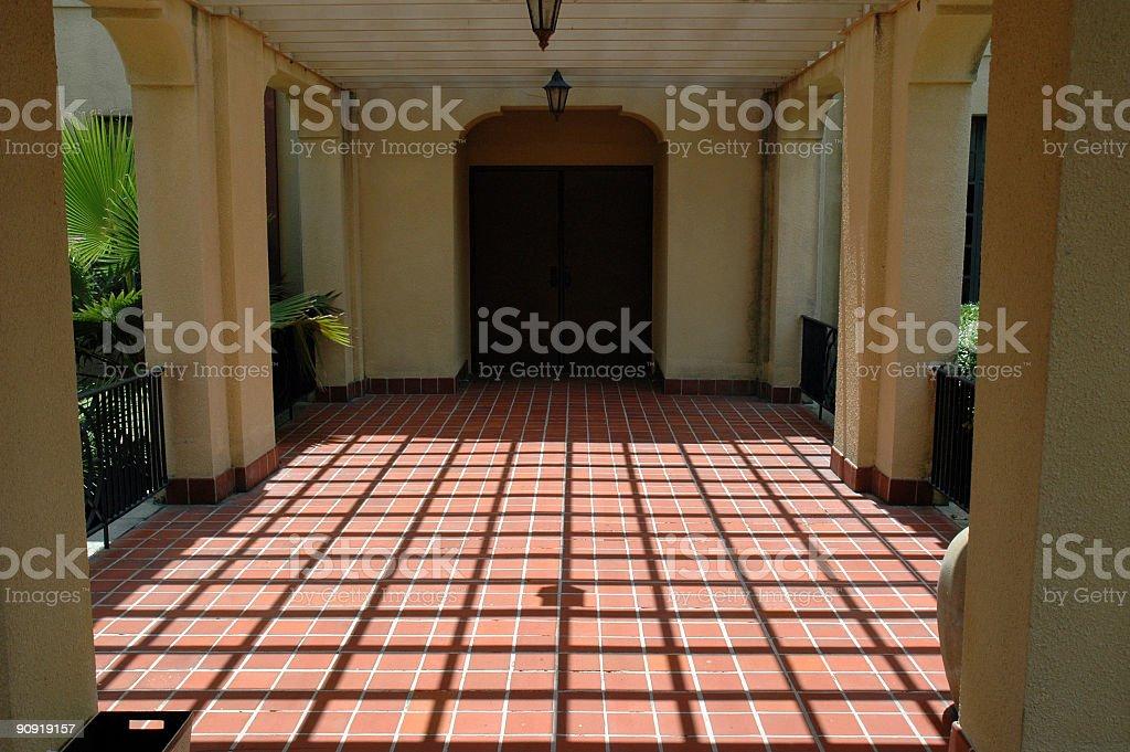 Thomas Center of Gainesville - Tiled Patio stock photo