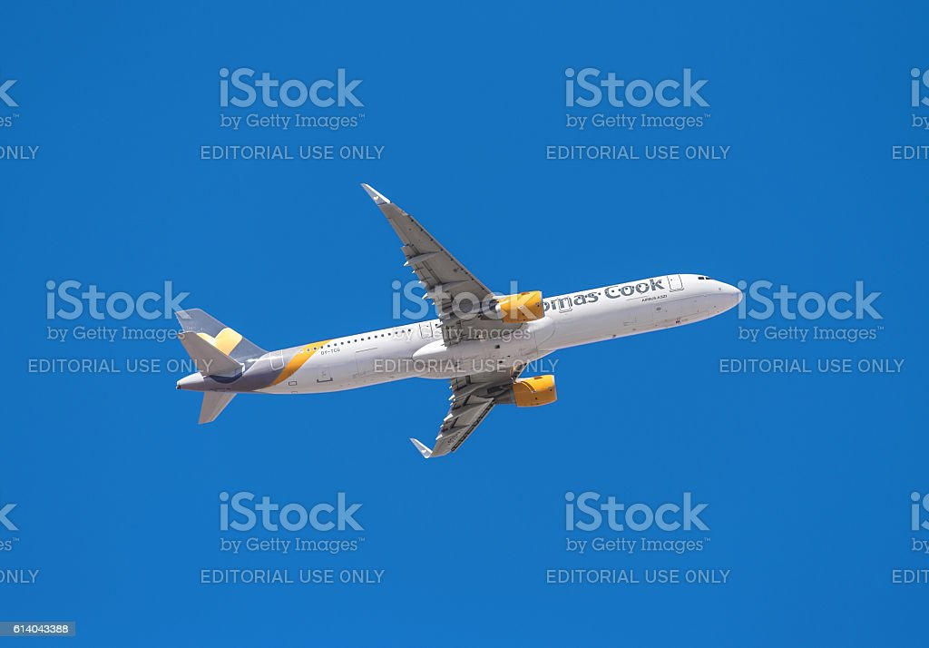 Thomas Cook Airbus 321 stock photo