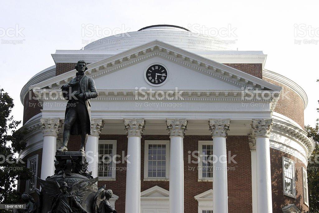 Thomas Jefferson and the Rotunda royalty-free stock photo