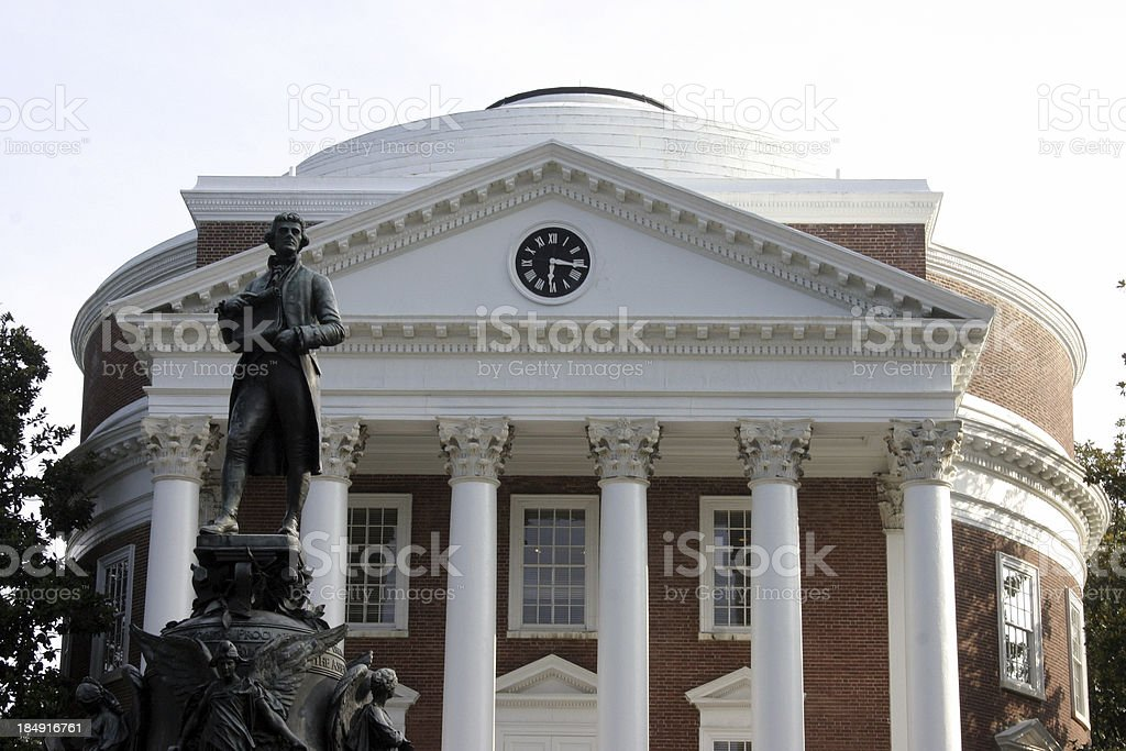 Thomas Jefferson and the Rotunda stock photo