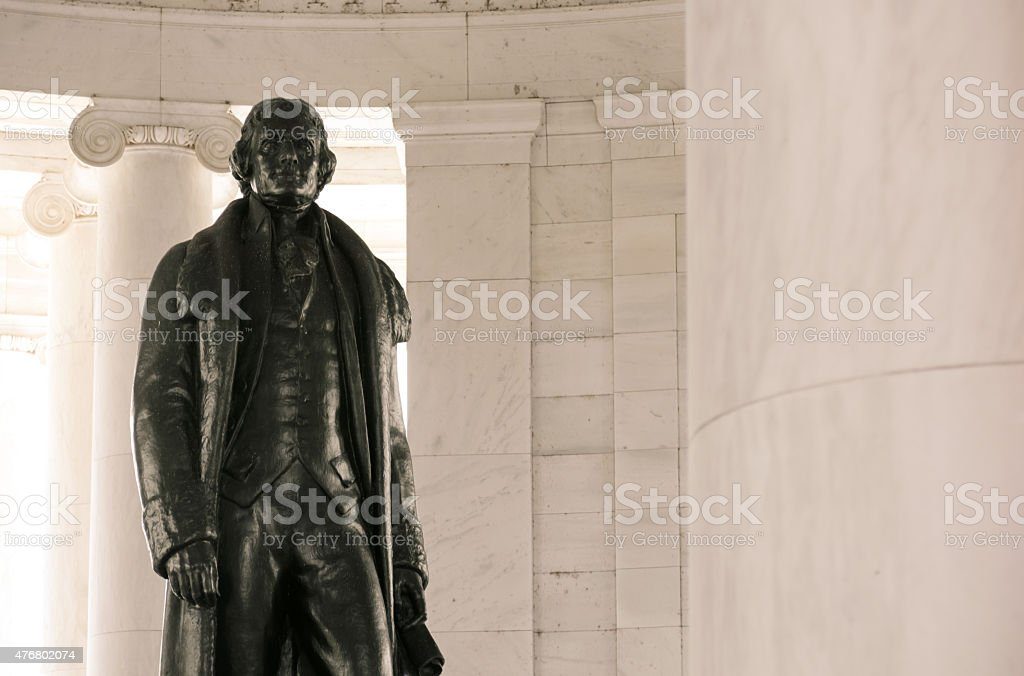 Thomas Jefferson Memorial along Tidal Basin in Washington, DC stock photo