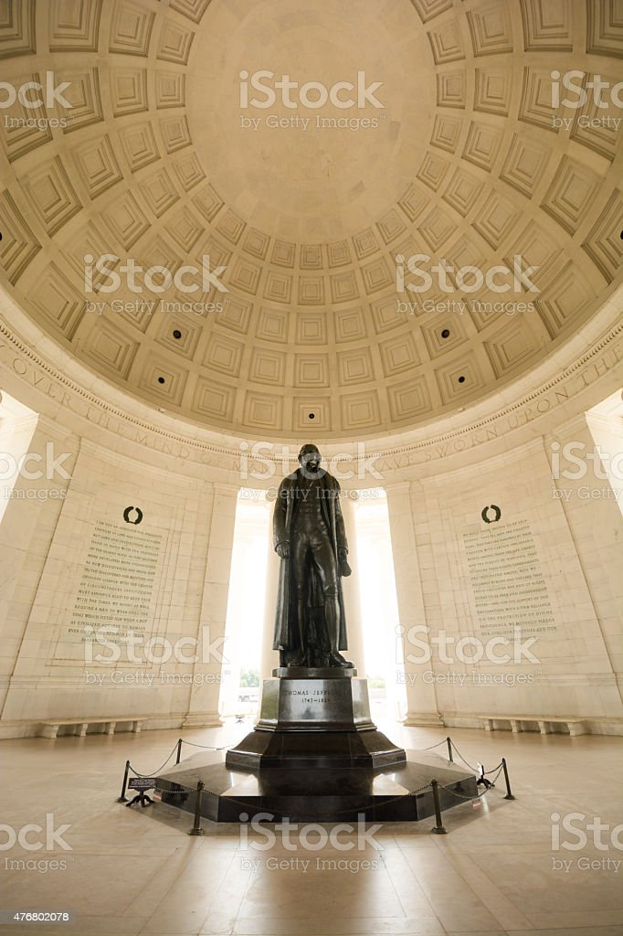 Thomas Jefferson Memorial along Tidal Basin in Washington, DC stock photo