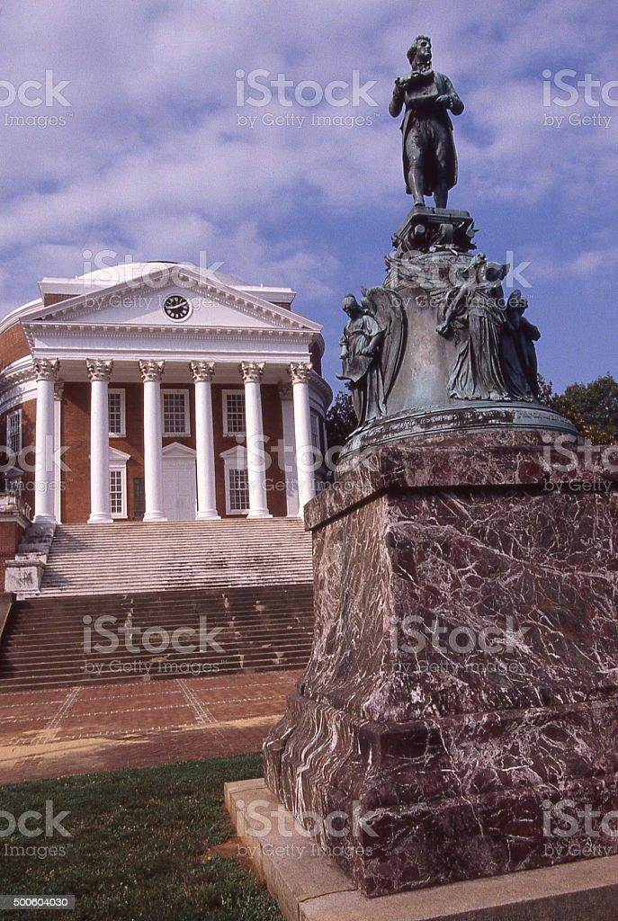 Thomas Jefferson Monument Rotunda University of Virginia Charlottesville Virginia stock photo