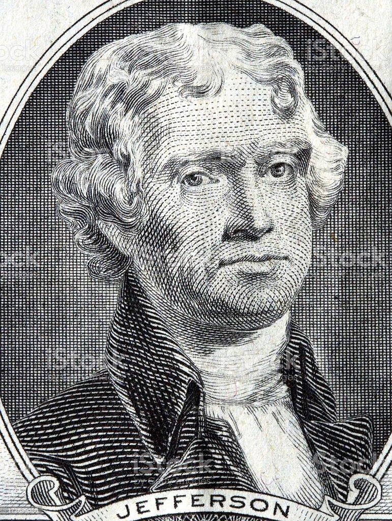 Thomas Jefferson royalty-free stock photo