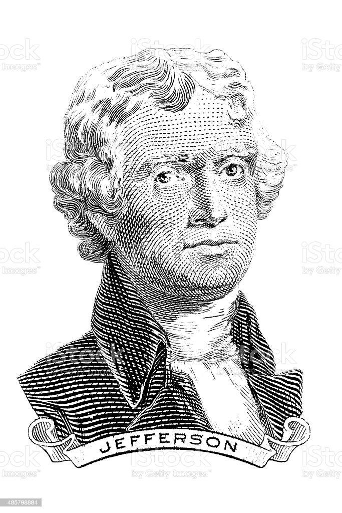 Thomas Jefferson stock photo