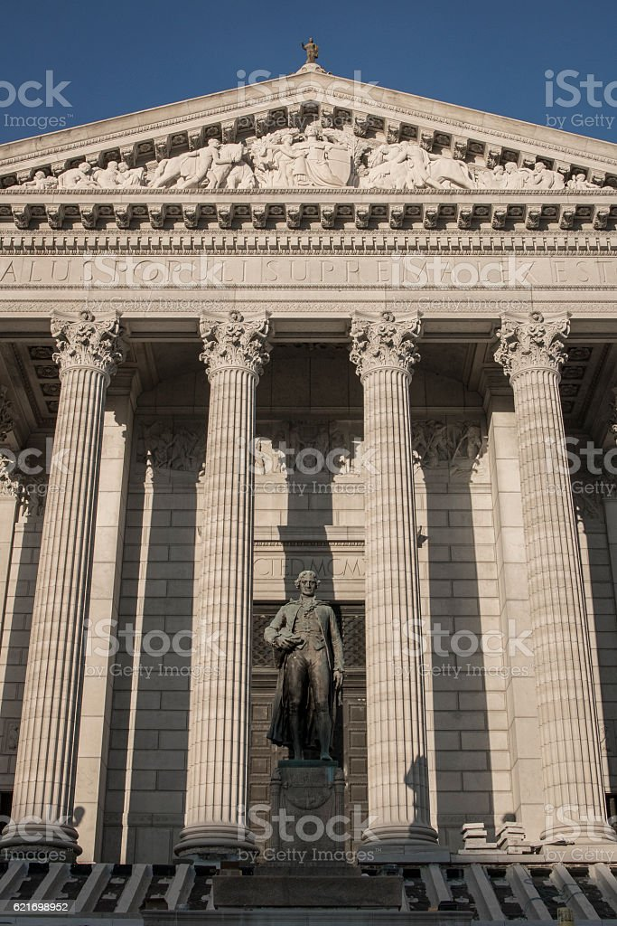 Thomas Jefferson Statue at Missouri State Capitol Building stock photo