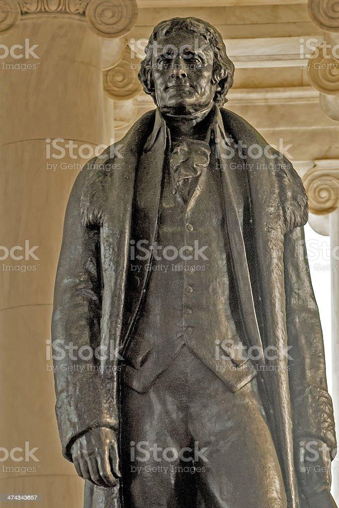 Thomas Jefferson Statue Close Up stock photo
