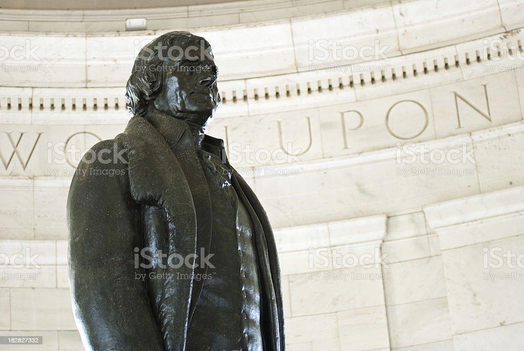 Thomas Jefferson statue in Washington DC stock photo