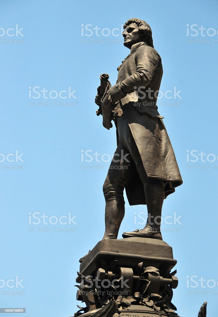 Thomas Jefferson statue stock photo