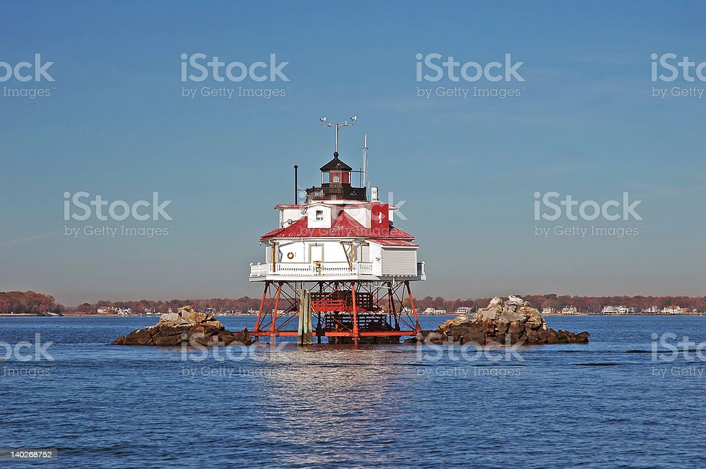 Thomas Point Light royalty-free stock photo