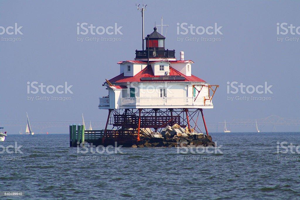 Thomas Point Lighthouse stock photo
