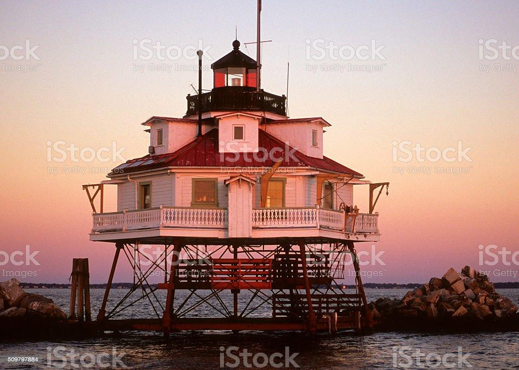 Thomas Point Shoal Lighthouse, MD stock photo