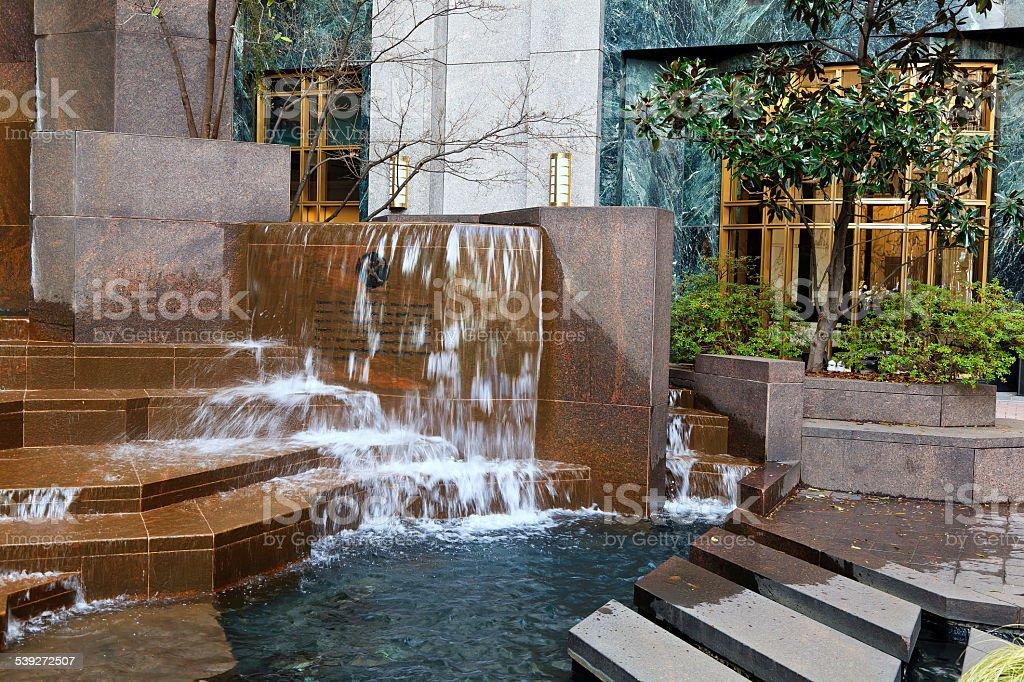 Thomas Polk Fountain Park stock photo