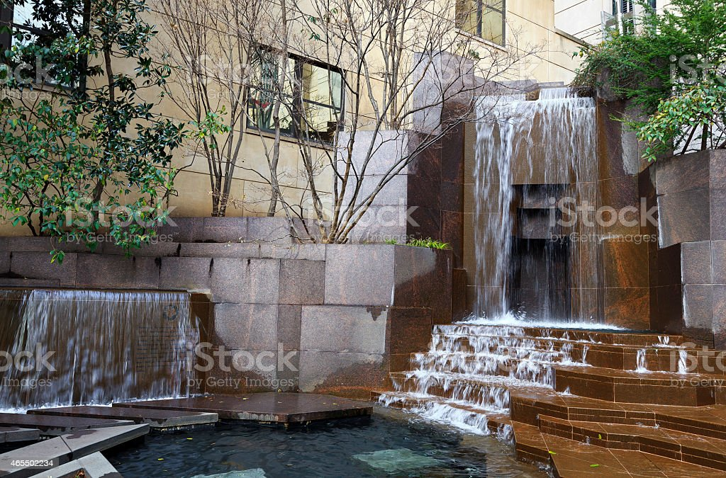 Thomas Polk Waterfall Fountain stock photo
