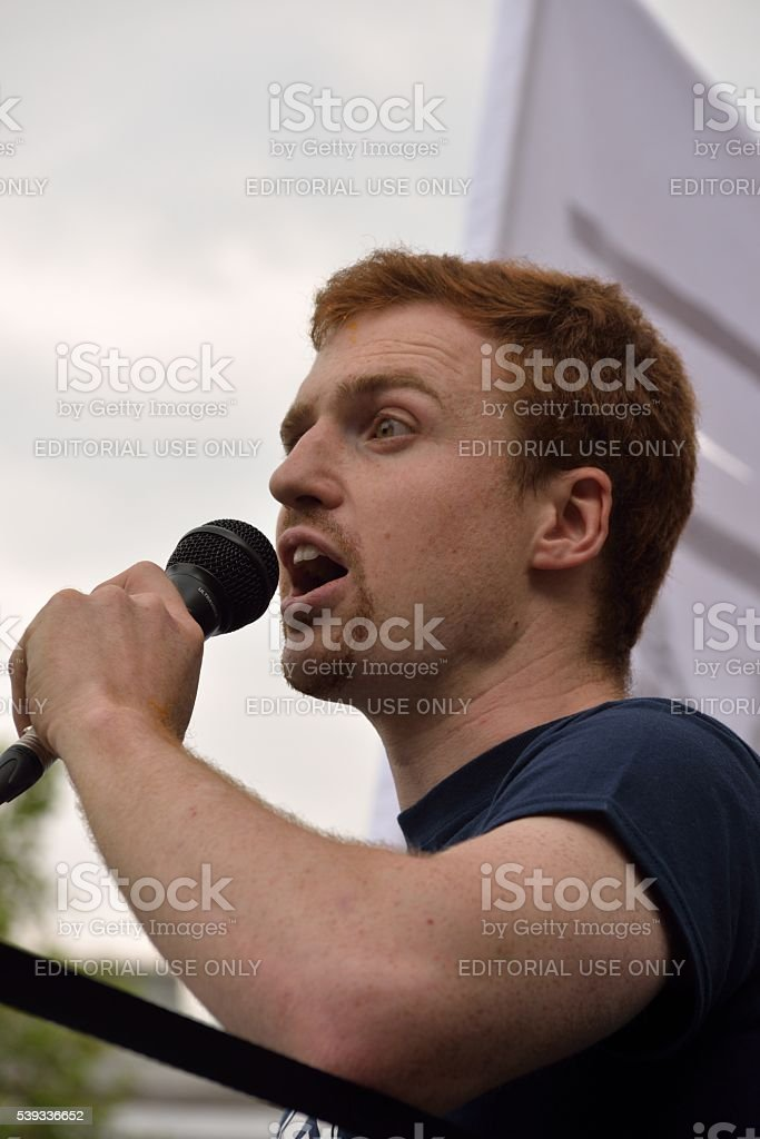 Thomas Sellner (Head of the Identitarian movement in Lower Austria) stock photo