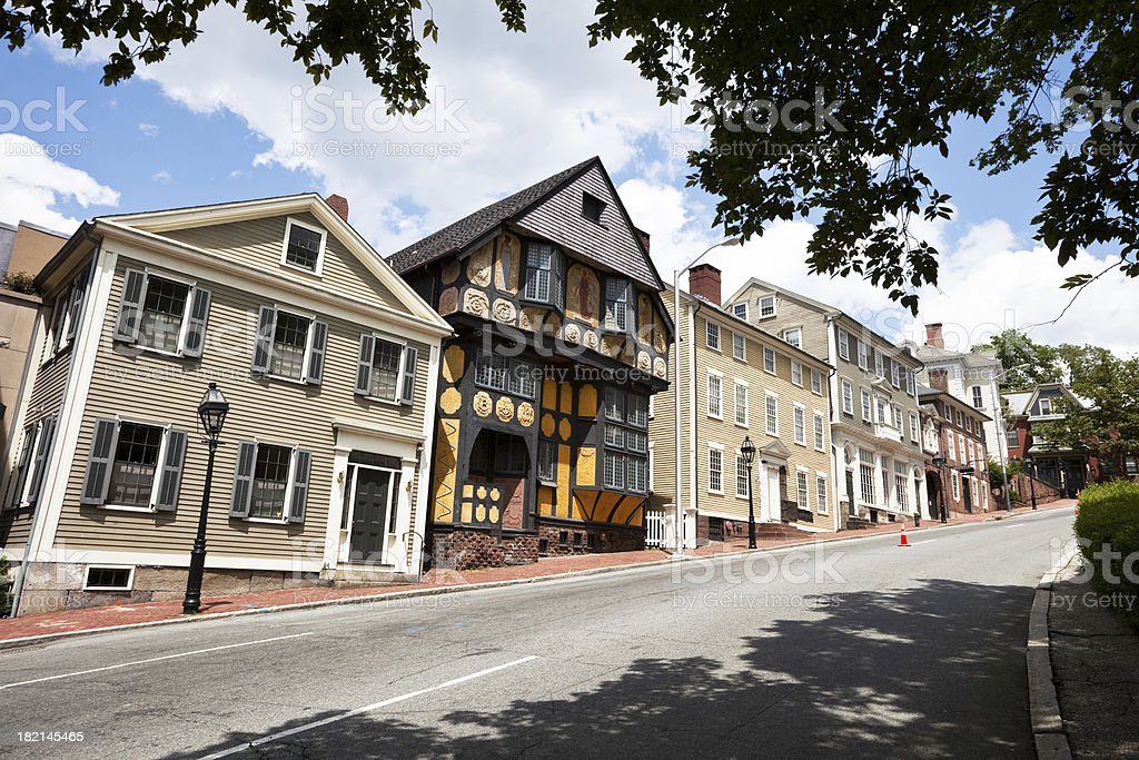 Thomas Street in Providence Rhode Island stock photo