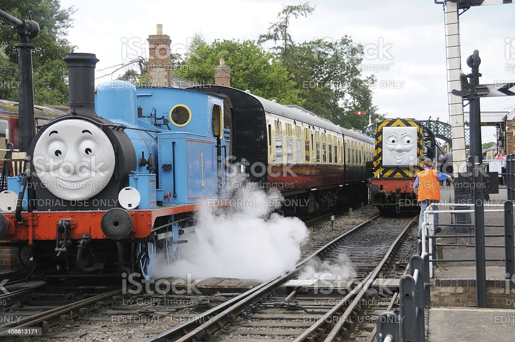 Thomas the Tank Engine and friends. stock photo