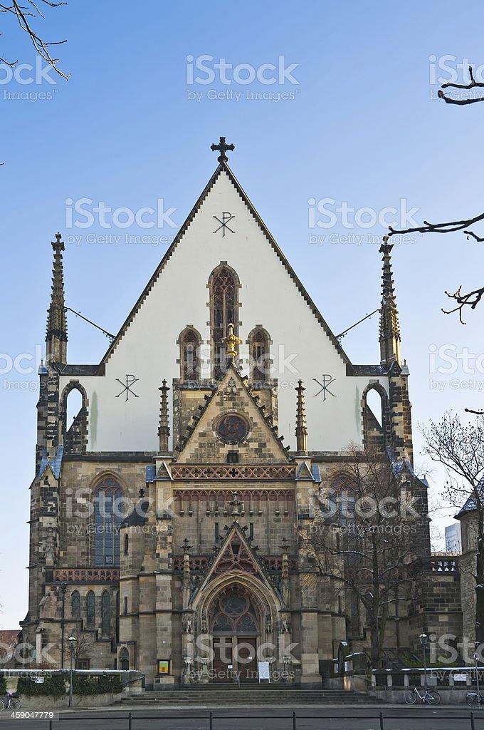 thomaskirche in leipzig stock photo