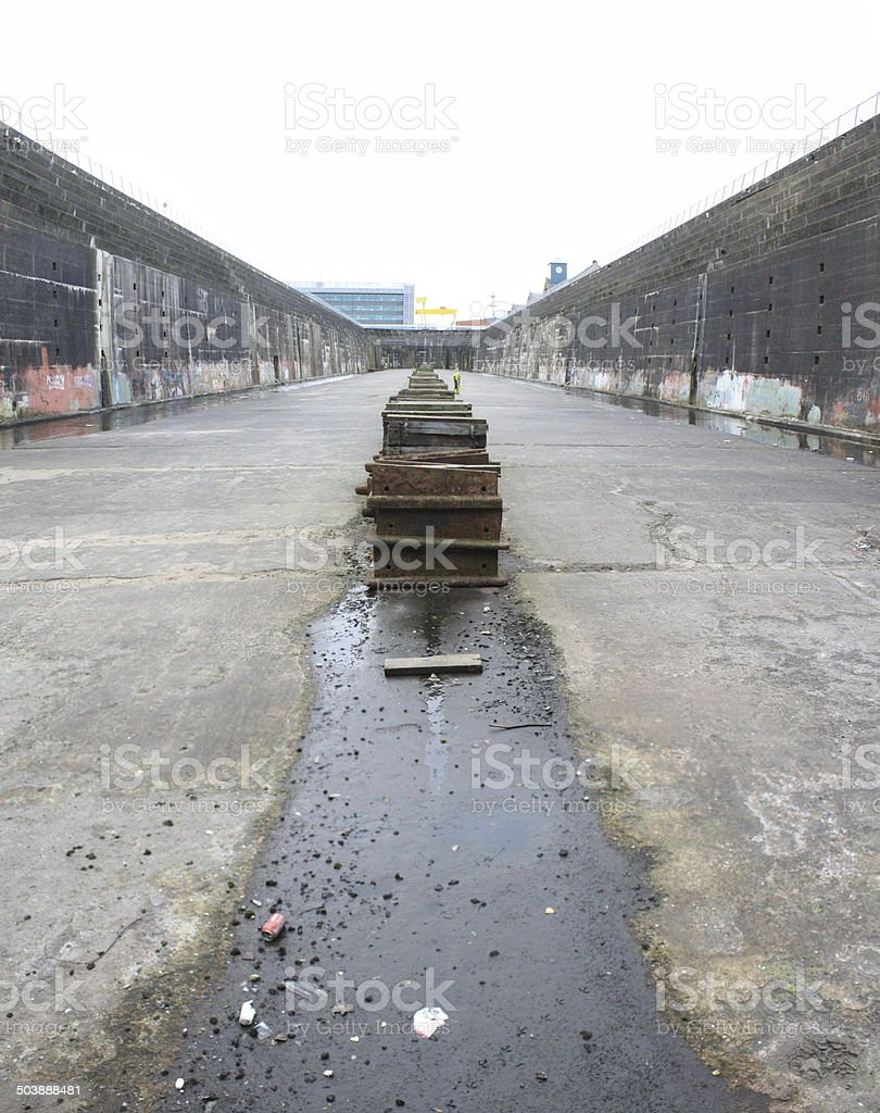 Thompson Dry Dock in Belfast stock photo