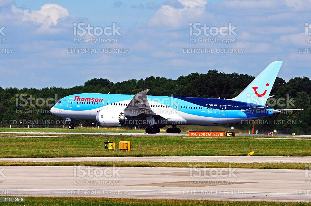 Thomson Airways Boeing 787-8 Dreamliner. stock photo
