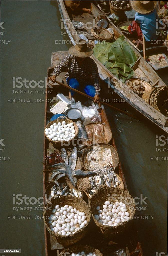 Thonburi , Bangkog, Thailand, floating markets II. stock photo