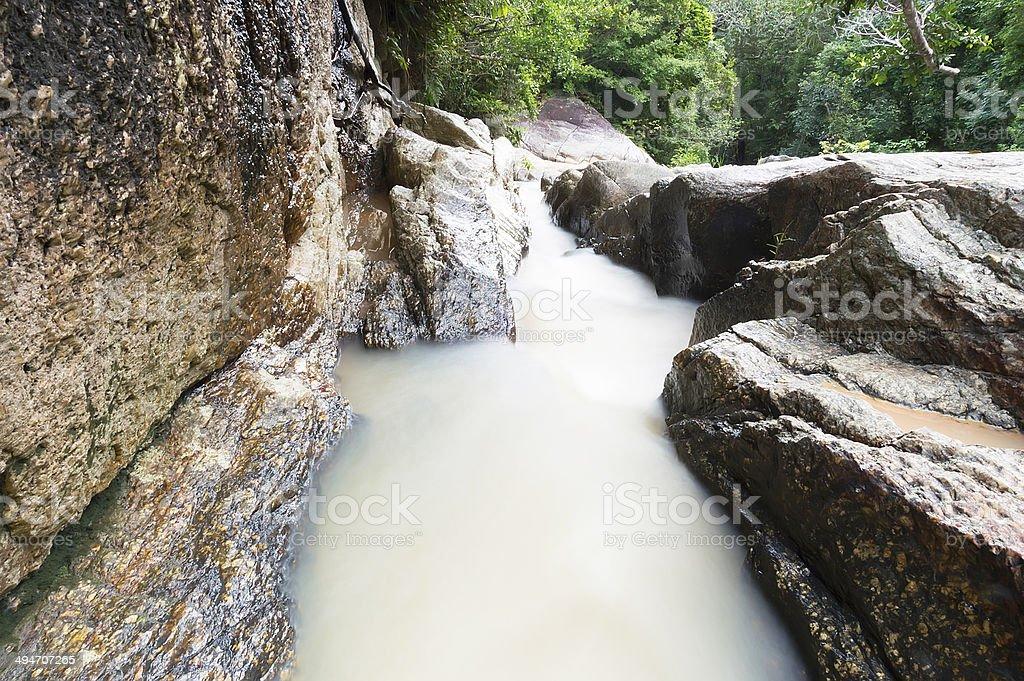 Thong Nang waterfall, Koh Phagnan stock photo