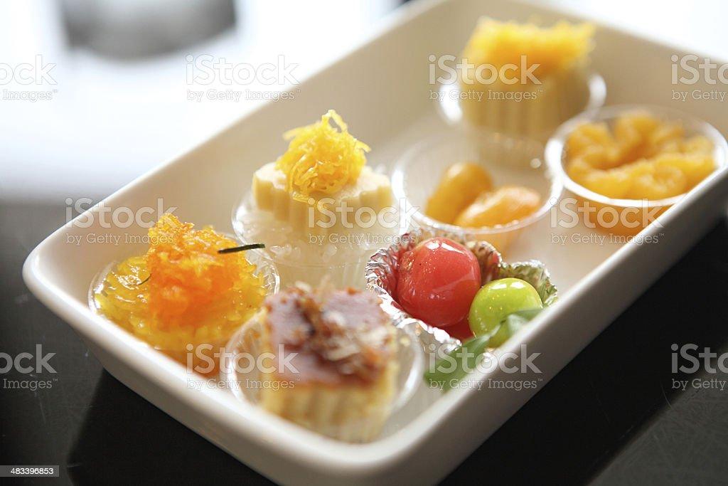 Thong Yod, golden threads, Mock jack fruit seeds, deletable imit stock photo