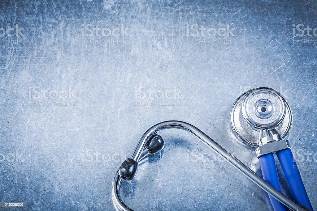 Thoracoscope on metallic background medicine concept stock photo
