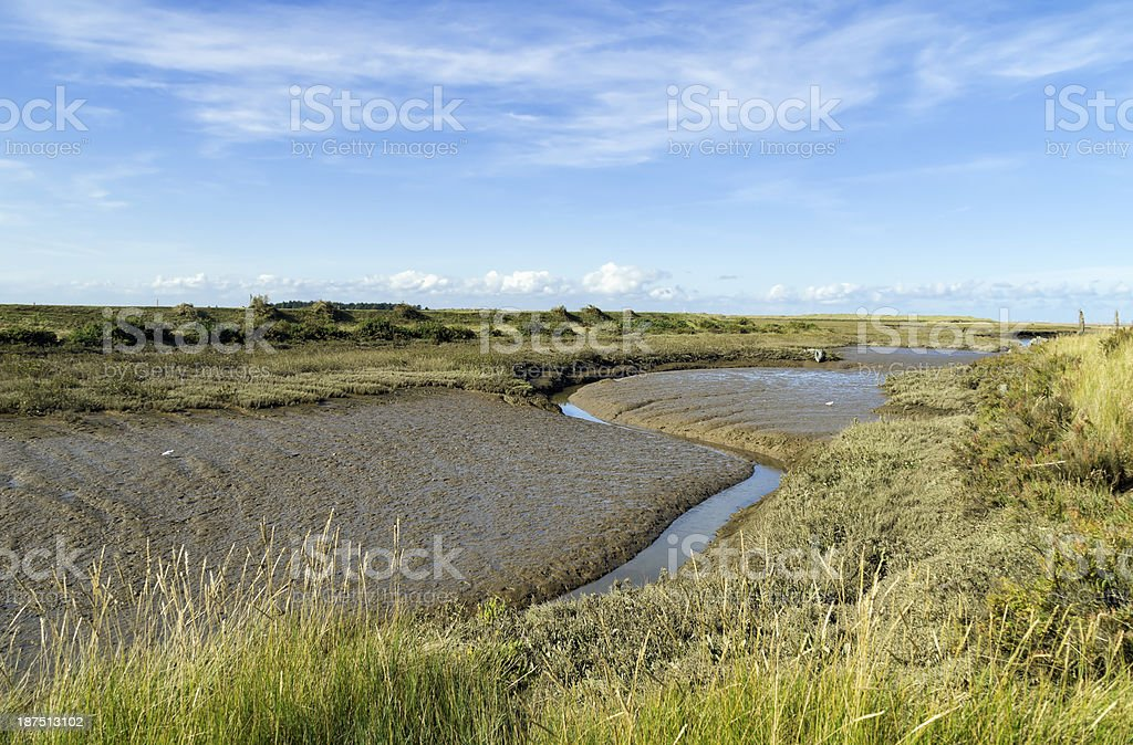 Thornham marshes, North Norfolk coast royalty-free stock photo