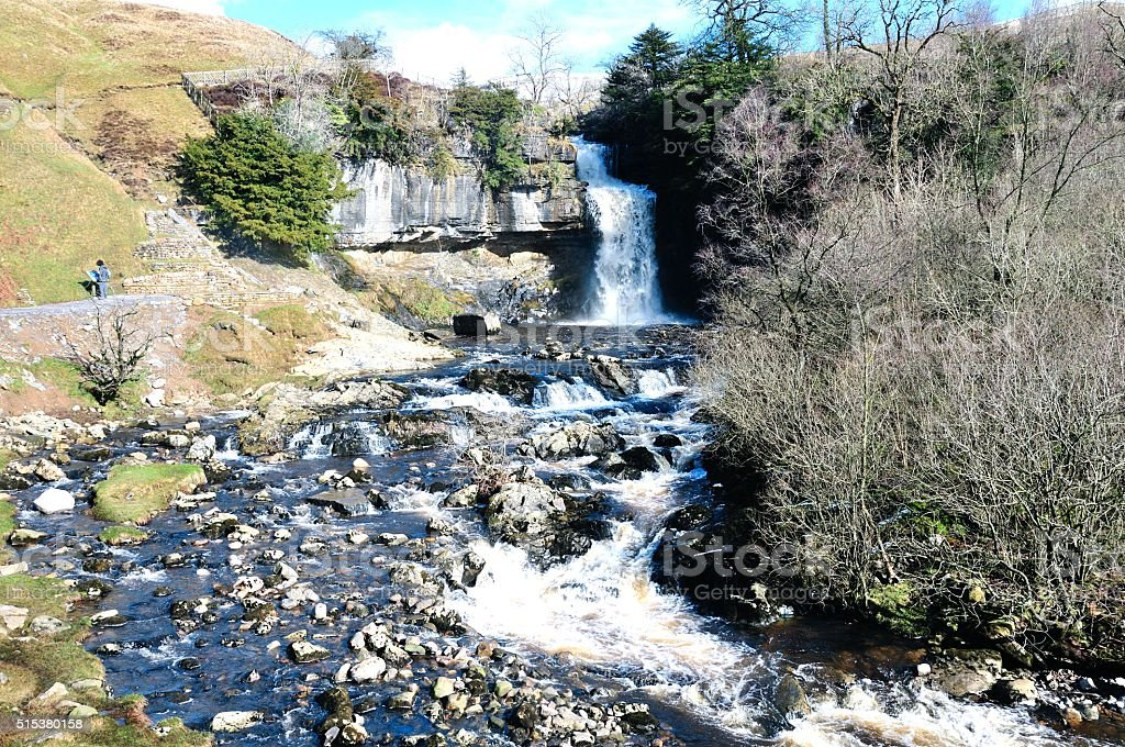 Thornton Force Waterfall at Ingleton North Yorkshire stock photo