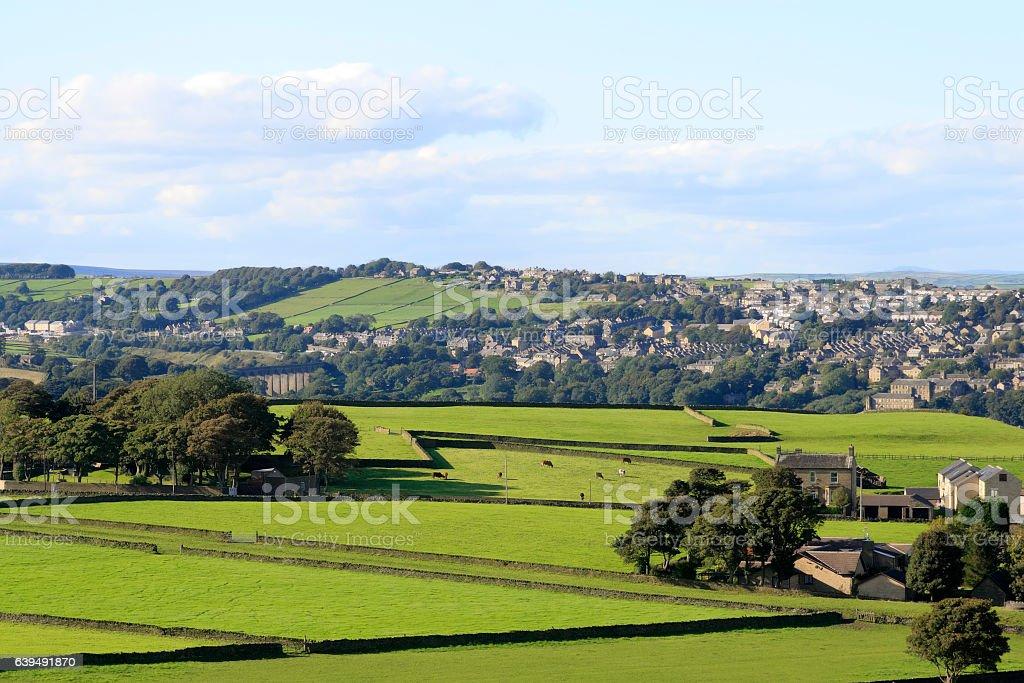Thornton Village near Bradford, birthplace of the Bronte sisters. stock photo