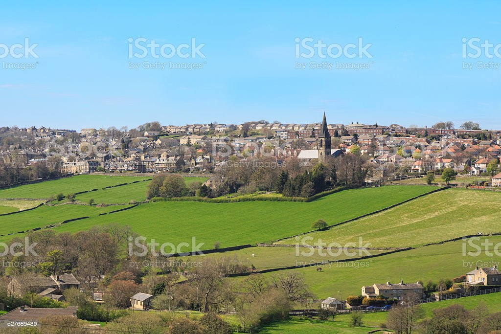 Thornton Village nr Bradford stock photo