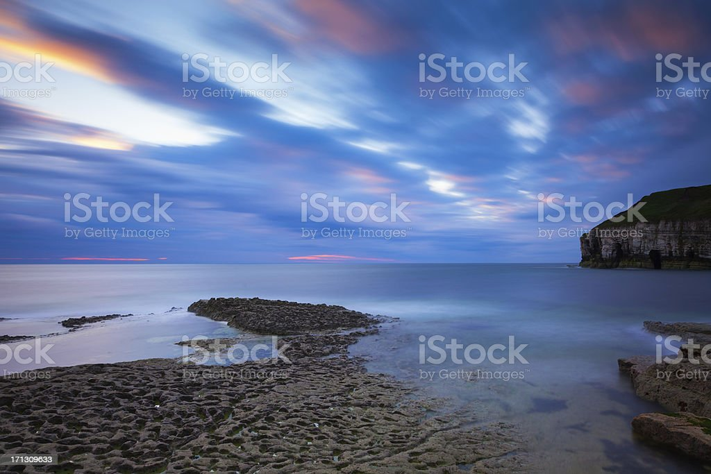 Thornwick Bay, East Yorkshire. stock photo