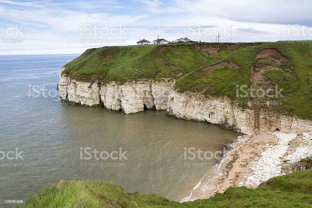 Thornwick Bay Flamborough stock photo